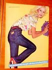 SEXY BLONDE GIRL FOR WRANGLER JEANS EYE CATCHING AD VINTAGE CLOTHING RETRO 80S