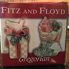 FITZ AND FLOYD GREGORIAN COLLECTION SALT & PEPPER SHAKER SET NIB