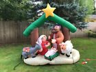 Gemmy Airblown Inflatables Christmas Inflatable 7 Holy Family Nativity Scene