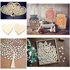 US 100pcs Rustic Wooden Wood Love Heart Wedding Table Scatter Decoration Crafts