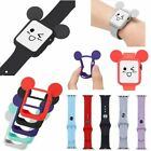 Cute Mickey Mouse Ears Watch Protective Case Cover + Band Strap for Apple Watch