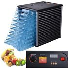 10 Tray 800W Electric Commercial Food Dehydrator Dryer Digital Timer Thermostat
