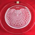 Lalique Annual Crystal Plate 1971 Owl