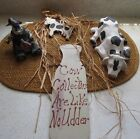 PRIMITIVE COUNTRY LOT OF COW DECOR Wreath Figurines