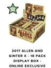 2017 Topps Allen & Ginter X Hobby Box (Topps.com Only - Sold Out!!!)