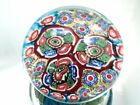 M Design Art Rainbow Millefiori Couple Layer Art Glass Paperweight