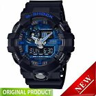 GA710-1A2 Casio Gshock  Analog Digital Blue Dial Black Resin Strap Watch G-Shock
