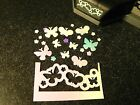 HTF EK Tools Butterfly Flowers Confetti Border Craft Punch Cards Scrapbooking