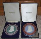 2 Tri-color Wedgwood Jasperware portrait medallions  REAL limited editions