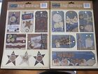 DELUXE DESIGNS Tag Alongs Beach  Patriotic Scrapbooking Stickers Set of 2 NEW
