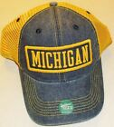 Michigan Wolverines University Snapback hat Mesh sides  back New LEGACY NCAA
