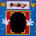 MEETIN MICKEY DISNEY photo mat holds a 5X7 One 12X12 Premade Scrapbook Page