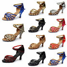 Women Girl Ladys Ballroom Tango Latin Dance Dancing Shoes Heeled Salsa 10 Color
