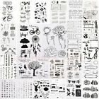 Mix Alphabet Transparent Silicone Clear Rubber Stamp Sheet Cling Scrapbook Set