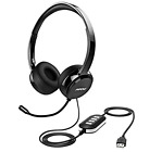 Mpow USB Headset 3.5mm Computer Headset Microphone Noise Cancelling , Light