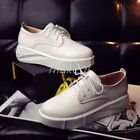 Womens Athletic Lace Up Creeper Platform Sneakers Shoes Pumps US4 105 Korean US