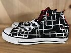 CONVERSE CHUCK TAYLOR CT PIPES HIGH BLACK SILVER 8 10 106117F