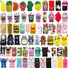For iPhone 7 7Plus 3D Cute Cartoon Soft Silicone Rubber Phone Case Cover Back