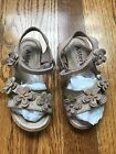 ASTER Euro Boutique Girls Leather SANDALS Pink Flowers 26 9