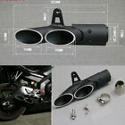 Two-Hole Aluminum Motorcycle Exhaust Muffler Pipe Kit + DB Killer +38-51mm Clamp