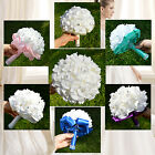 Wedding Party Bridesmaid Bouquets Artificial Flower Rose Ribbon Bridal Decor NEW