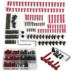 Motorcycle Sport Bike Front Glass Fairing Bolt Kit 223x Screws Clips Washer Pins