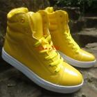 Mens High Tops Lace Up Street sport patent leather sneaker Dancing Casual Shoes