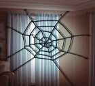 25in Black Spiderweb Halloween Large Big Spider Web Rope Webbing 25 Easy Hang