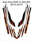 Sea-Doo Bombardier RXP X 260 RS 2014 2015 Jet Ski Graphic Kit Wrap pwc decals 10