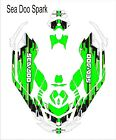 Sea-Doo Bombardier Spark 2 3 Jet Ski Graphic Kit Wrap pwc decals wrap green blac