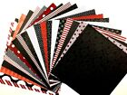 12X12 Scrapbook Paper Lot 20 Sheets Bold Red Black White Prints Card Making L169