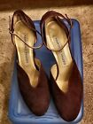 MARTINEZ VALERO SUEDE LEATHER HEELS SZ 85M