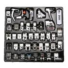 42 PCS Domestic Sewing Machine Foot Feet Snap On For Brother Singer Set ZH2A