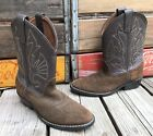 ACME Brown Suede Leather Cowboy Western Boots Youth Childrens 125D