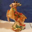 FITZ AND FLOYD REINDEER CANDLE HOLDER KRIS KRINGLE 1993 - EXCELLENT