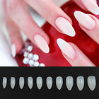 Clear Natural White Nail Tips False Point Stiletto French Acrylic UV Gel 600PCS
