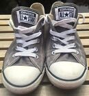 Converse Chuck Taylor All Star Canvas Gray Low Womens Size 5