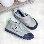 Carters Infant Boys Nautical Slip On Shoes Blue Gray Anchor Walking Shoe Sz 5