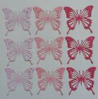 Set of 9 Butterfly die cuts scrapbook cards embellishments pink