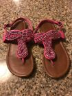 Cherokee Pink Beaded Sandals Casual Toddler Girls Size 13