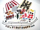70 Lego Pirate Flags, Cannons, Crocodile, Chests, Net, Shields, Saddles