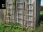 6' tall Primitive Rustic Antique Wooden 6 Rung Ladder