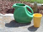 Fiesta Disk Water Pitcher 1950's Vintage and Fiesta Tumbler Yellow