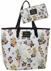 Disney Tinkerbell Tattoo Tote Bag Purse  Wallet Set by Loungefly