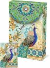 Punch Studio Decorative Pouch Note Card 6pc Royal Peacock 57938D DEFECT