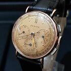 VINTAGE ZENITH CHRONOGRAPH COMPAX, PINK GOLD & STEEL, RARE