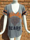 NWT NFL Team Apparel Womens CHICAGO BEARS Bling Bear Logo SS T Shirt LARGE