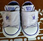 CONVERSE ALL STAR Girls Baby Toddler Velcro Shoes Size 6 PURPLE