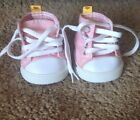 Build A Bear Pink Hi top Converse Style Sneakers Tennis Shoes