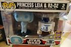 holographic princess leia & r2-d2 2 pack sdcc exclusive star wars funko pop